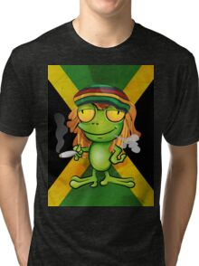 Rastafarian frog cartoon Tri-blend T-Shirt
