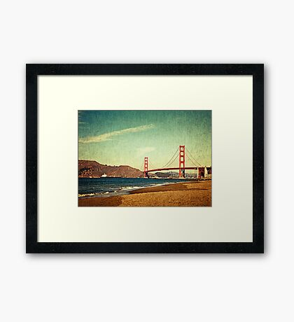 Vintage Golden Gate Framed Print