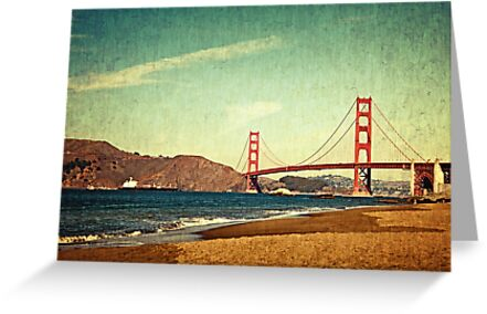 Vintage Golden Gate by Colleen Farrell