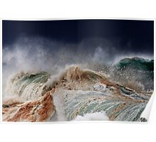Winter Waves At Pipeline 14 Poster