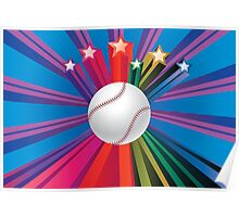 Baseball Ball Background 2 Poster