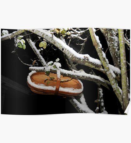 Pear-waiting for harvest: winter scene Poster