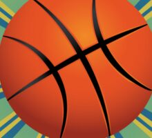 Basketball Ball Background Sticker