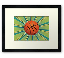 Basketball Ball Background Framed Print