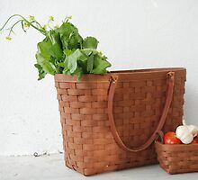 Longaberger Basket with Veggies by LenaHunt