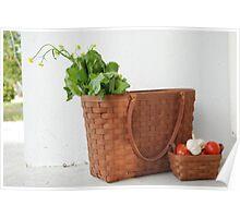 Longaberger Basket with Veggies Poster
