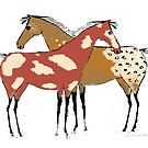 Two Horses -Paint & Appaloosa Design by Ginny Luttrell