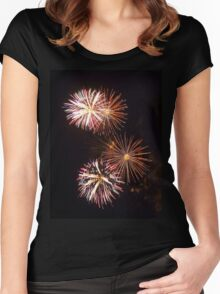 Fireworks 2 Women's Fitted Scoop T-Shirt