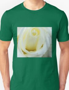 White rose and drops 2 Unisex T-Shirt