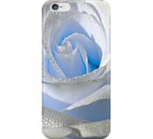 White rose and drops 3 iPhone Case/Skin