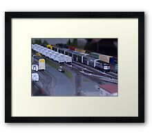 Model Train Show in HO Scale   Framed Print