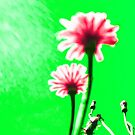 Two Dream Flowers - Green by vampyba