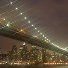 Brooklyn bridge at night by 64iso
