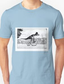 T-Rex on a Penny Farthing Unisex T-Shirt