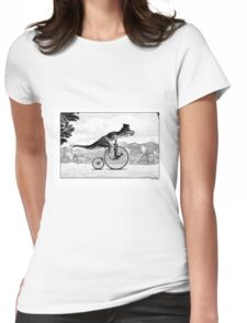 T-Rex on a Penny Farthing Womens Fitted T-Shirt