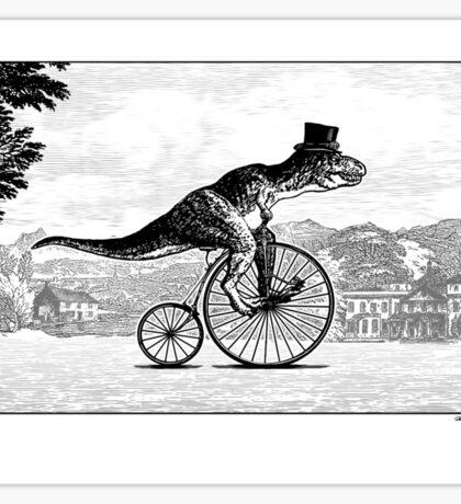 T-Rex on a Penny Farthing Sticker