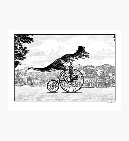 T-Rex on a Penny Farthing Photographic Print