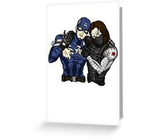 Captain America Winter Soldier Greeting Card