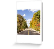 Autumn Road to Nowhere 2 Greeting Card