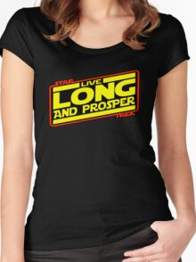 Live Long & Prosper Strikes Back Women's Fitted Scoop T-Shirt