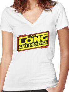 Live Long & Prosper Strikes Back Women's Fitted V-Neck T-Shirt