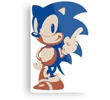 Minimalist Sonic 4 Metal Print