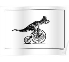 T-Rex on a Penny Farthing - Plain Back Poster