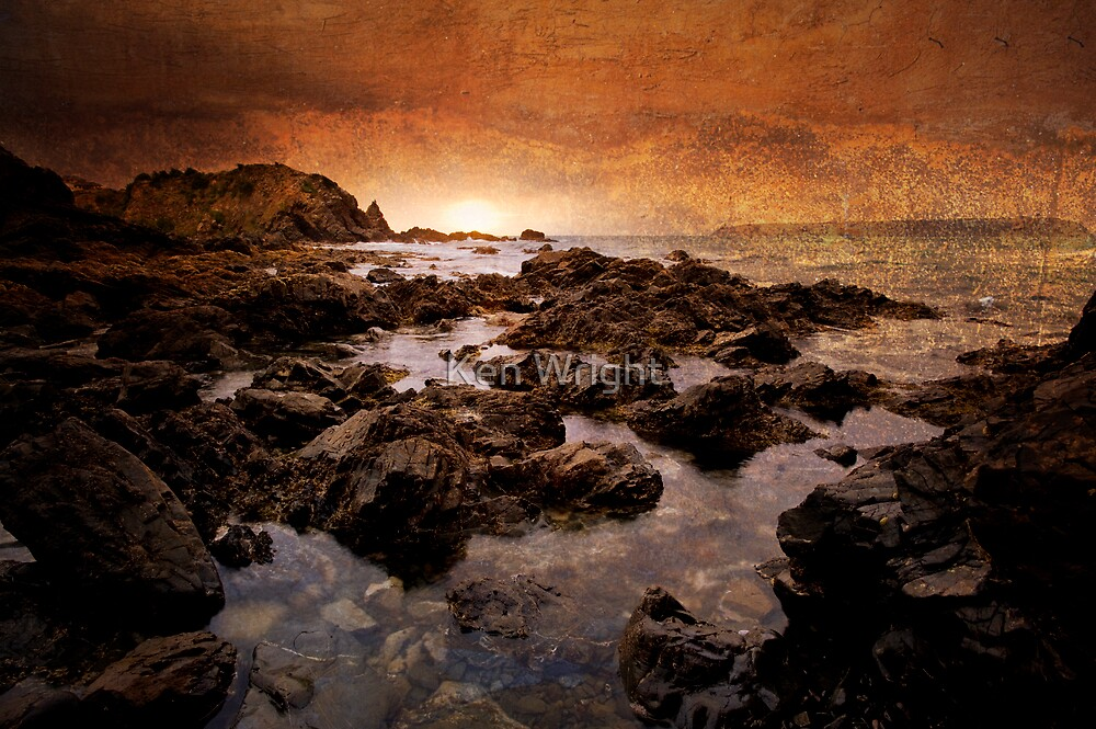 Last Light at Stolk Cove by Ken Wright