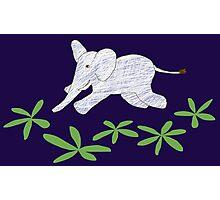 Flying Elephant Photographic Print