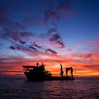 Offshore Sunrise. by Paul Campbell
