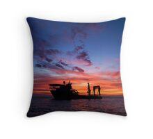 Offshore Sunrise. Throw Pillow