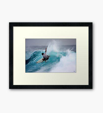 Saturday Surf... Framed Print