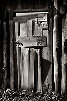 closeup of door, Dooralong shed, NSW by ozzzywoman