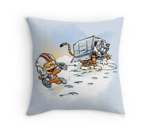 Attack of the Deranged Killer Snow Walkers Throw Pillow