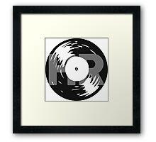 His Rock Vinyl Logo Framed Print