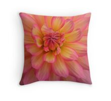 Peach Petals Throw Pillow