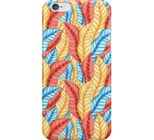 multicolored pattern of leaves iPhone Case/Skin