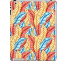 multicolored pattern of leaves iPad Case/Skin