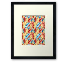 multicolored pattern of leaves Framed Print