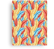 multicolored pattern of leaves Canvas Print