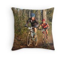 Riding in Last Light Throw Pillow