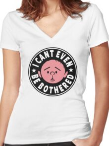 Karl Pilkington - I Cant Even Be Bothered Women's Fitted V-Neck T-Shirt