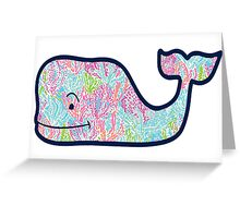 Lily Pulitzer Whale Greeting Card
