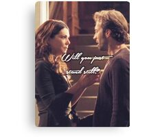 Luke and Lorelai - Stand Still Canvas Print