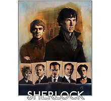 Sherlock Cast Portraits Photographic Print