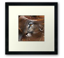 Cougar Puma panther animals,wildlife,wildlife art,nature Framed Print