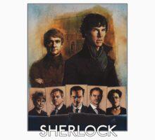 Sherlock Cast Portraits One Piece - Short Sleeve