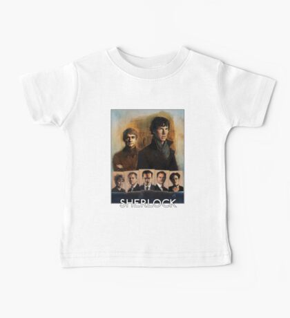 Sherlock Cast Portraits Baby Tee