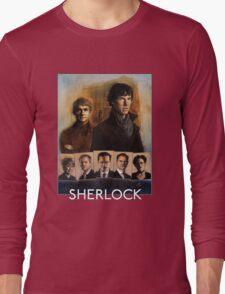 Sherlock Cast Portraits Long Sleeve T-Shirt