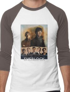Sherlock Cast Portraits Men's Baseball ¾ T-Shirt